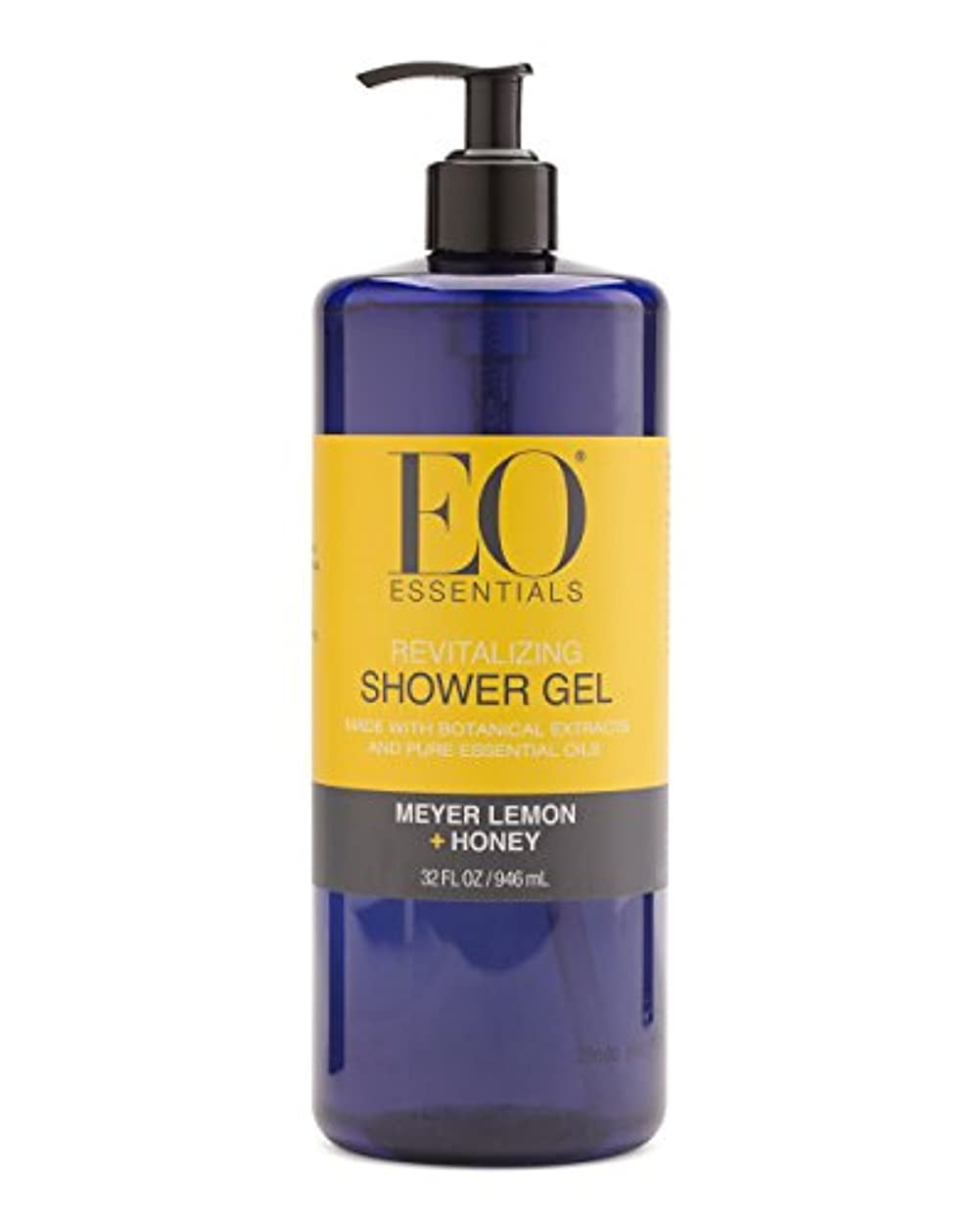 ジャングル遷移役立つMeyer Lemon + Honey Shower Gel (32 Oz) by EO Essentials [並行輸入品]