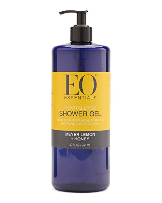蛇行オーナー発疹Meyer Lemon + Honey Shower Gel (32 Oz) by EO Essentials [並行輸入品]