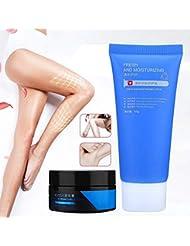 ヘアリムーバークリームセット、ダメージなし痛みなし効果的な肌に優しい完璧な修理ローション脱毛クリーム脱毛クリーム+ 50グラム修理ローションキット脇の下男性用女性