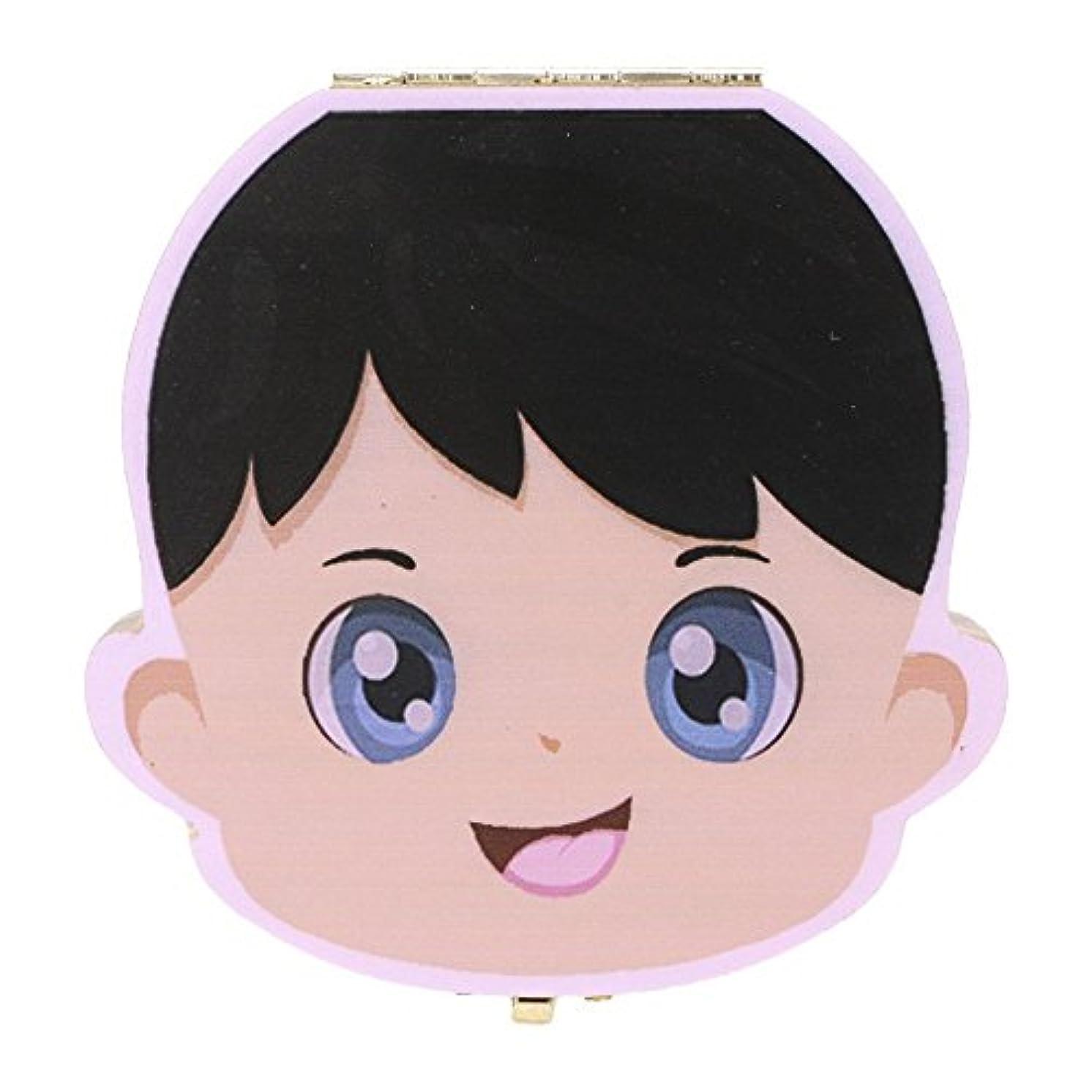 モニカ測る民間人Seliyi 赤ちゃん用乳歯ボックス 実木材料 日本語ボーイズ  カラフルプリント