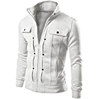 LOOKATOOL TOP Fashion Mens Slim Designed Lapel Cardigan Coat Jacket