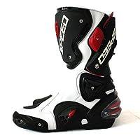 AJK レーシングブーツロングプロテクターブーツバイクシューズレーシングブーツ/最新モデル/Black SIZE43/約27.5cm|1068|