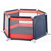 BSNOWF-ベビーサークル Playpensポータブルベビーフェンスホーム屋内屋外キッズ6パネル安全性プレイセンターヤード、折り畳み式ルームディバイダー