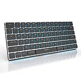 Taptek 16mm超薄型 ワイヤレスキーボード メカニカルキーボード ゲーミングキーボード オリジナル青軸 打鍵音改良 無線&有線2WAY仕様 Mac/Windows/iOS/Android/Linuxなど対応可能 最大3台接続可 PC/タブレット/スマホ 切替簡単 Nキーロールオーバー対応 テンキーレス 英語配列 19種RGBバックライト 540g軽量 コンパクト 持ち運びやすい 2種レイアウト Mac&Windows選ぶ可能 素晴らしい プレゼント ブラック 【バレンタインギフト】(Macレイアウト, 黒)