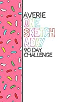 Averie: Personalized colorful sprinkles sketchbook with name: One sketch a day for 90 days challenge