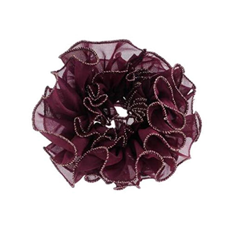 グロー恐怖ダースヘアクリップ、ヘアピン、ヘアグリップ、ヘアグリップ、帽子、ファッションヘアアクセサリー、ヘッド、花、ネクタイ、ヘアロープ、ヘアバンド、ラバーバンド、帽子、A219、ブルゴーニュ、ネイビー、グレー、ブラック (Color : Wine red)
