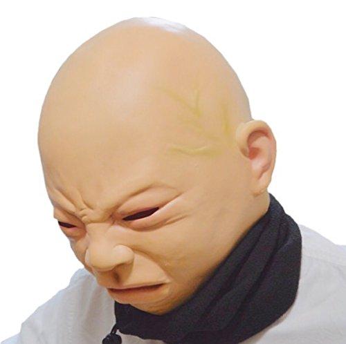 SYNC 赤ちゃんマスク ベイビー フェイス リアル 絶対に笑ってはいけない 泣き顔マスク ネックウォーマーセット