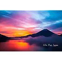 【日本の観光地ポストカードAIR】「Mt. Fuji, Japan」世界遺産美しい富士山の葉書はがきハガキ