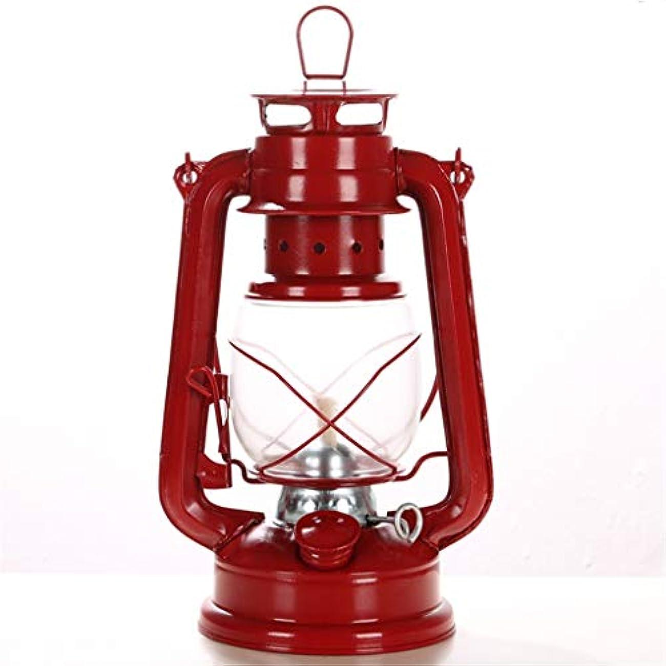 デクリメント行き当たりばったり紫のヴィンテージオイルランプ/灯油ランプ、24.5cmガラスのランプシェード、家庭用家具に最適、屋外テント、バーイン(赤)