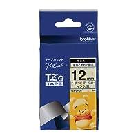 ブラザー工業 TZeテープ ディズニーテープ(ベビープーイエロー/黒字) 12mm TZe-DH31