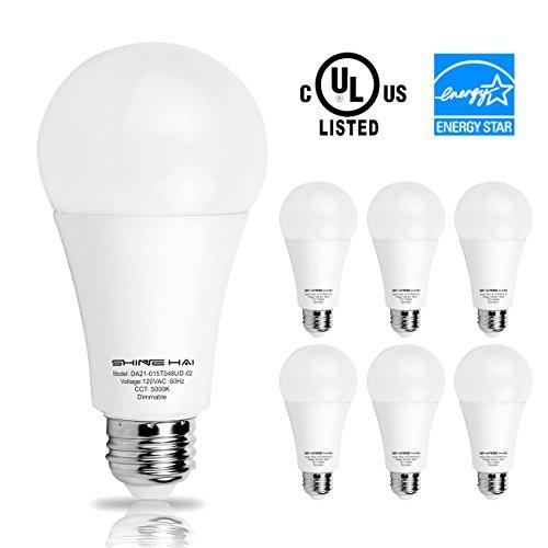 SH 調光器対応 LED電球 E26口金 5000K 昼白色 15W 白熱電球100W形相当 6個セット 1521ルーメン 省エネ85% 密閉形器具対応