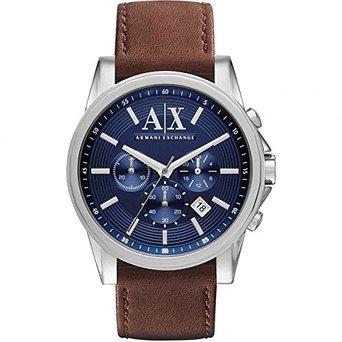 アルマーニエクスチェンジ A|X Armani Exchange Men's Chronograph Brown Leather Strap Watch AX2501 男性 メンズ 腕時計 【並行輸入品】