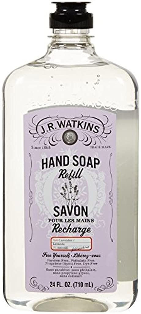 四面体生む高さJ.R. Watkins Liquid Hand Soap - Refill - Lavender - 24 fl oz