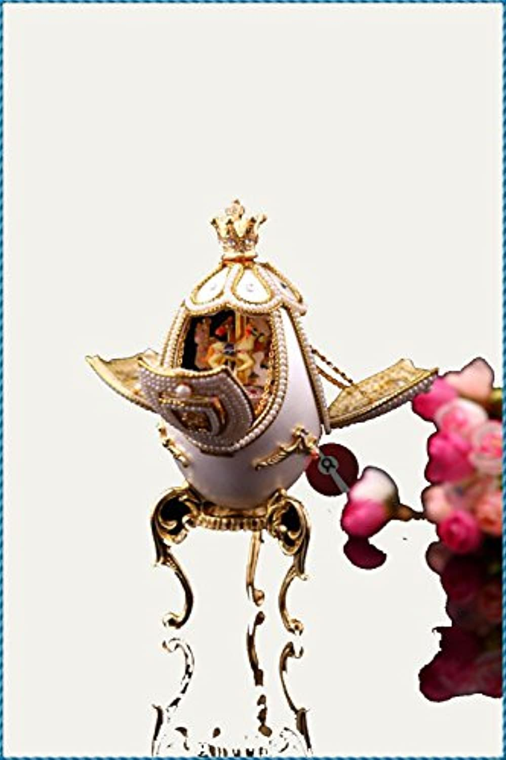 oofyhome Royal Horse Carousel MusicボックスArtware/誕生日gift-wedding Small Ornaments