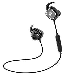 SoundPEATS 【メーカー直販/1年保証付】 Bluetooth 片耳 イヤホン 片耳 ワイヤレス ヘッドセット 高音質 小型軽量 防水 防滴 マイク内蔵 Bluetooth イヤホン D2 (ブラック/ギン)