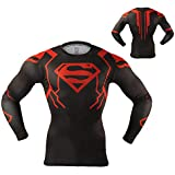 Arsuxeo Shirts Men Compression Long Sleeve Quick Dry Superhero T-Shirt