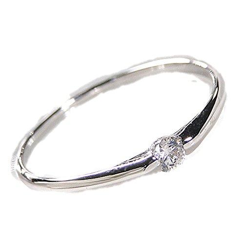 【数量限定】pt900 一粒ダイヤモンド リング(サイズ9号)【ギフトラッピングされています】 【品質保証書が付いています】