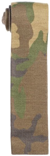 Wool Knit Tie 118-28-0064: Olive Camouflage