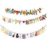かわいい 動物 ガーランド & BIRTHDAY 用 PATRY 用 ガーランド セット パーティー 誕生日 飾り デコ