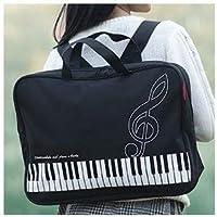 Piano line 鍵盤 キーボード ト音記号 ファスナー付きリュック型レッスンバッグ ピアノライン (1) clefgifts