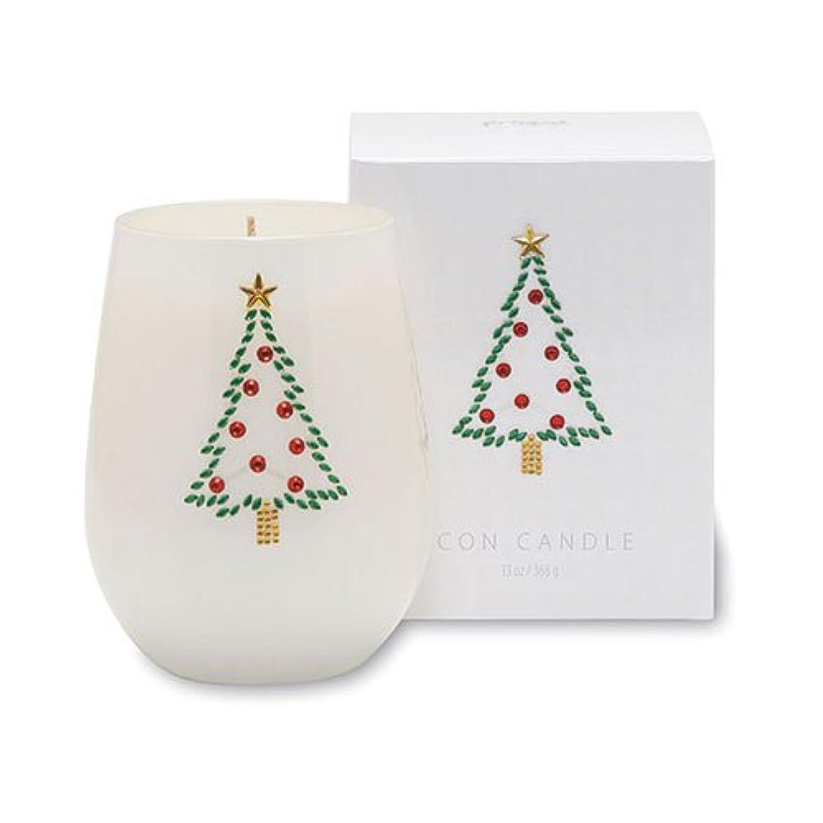 傑出したコミュニティ許されるクリスマスアイコンキャンドル/クリスマスツリー オレンジピールとドライフルーツの香り キャンドル