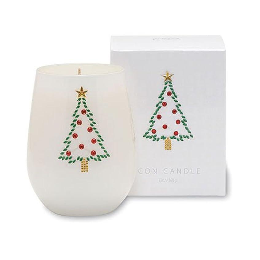 クリスマスアイコンキャンドル/クリスマスツリー オレンジピールとドライフルーツの香り キャンドル