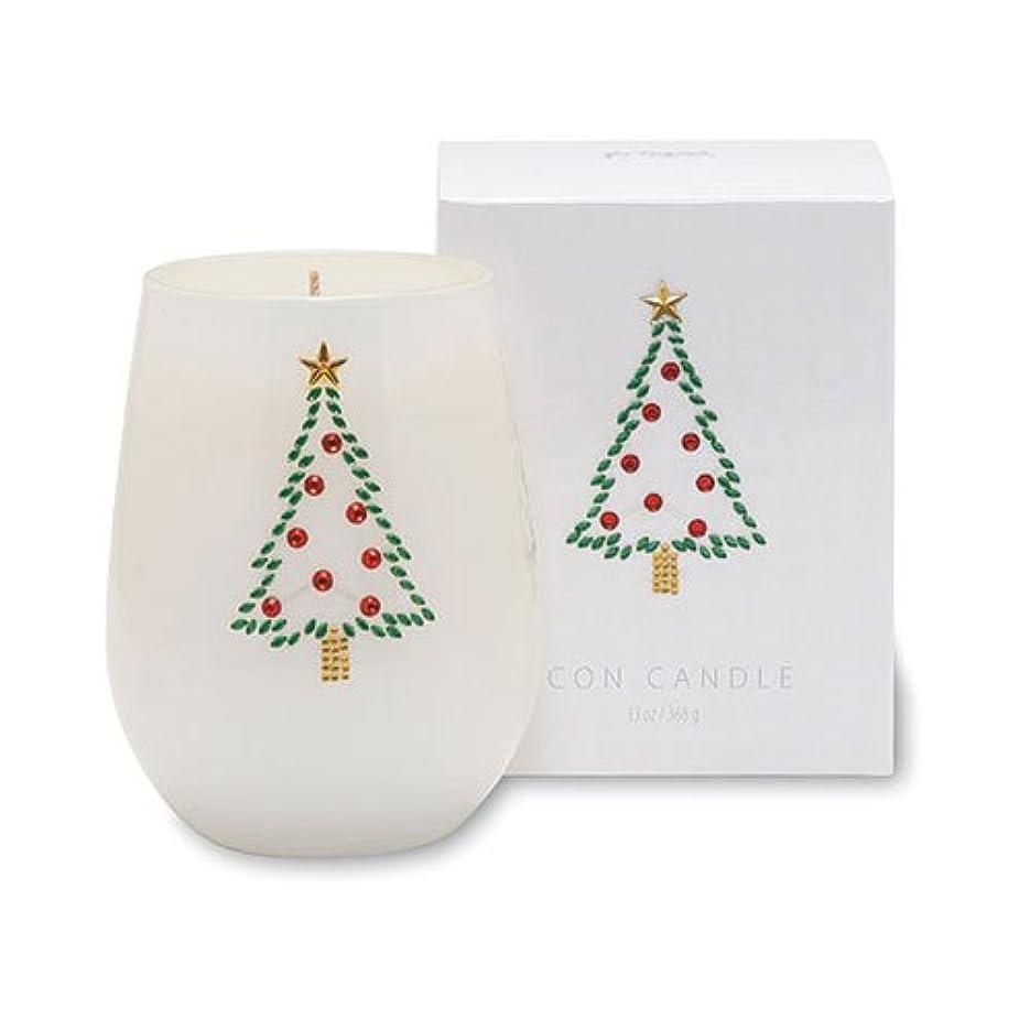 バイアス走る悪化させるクリスマスアイコンキャンドル/クリスマスツリー オレンジピールとドライフルーツの香り キャンドル