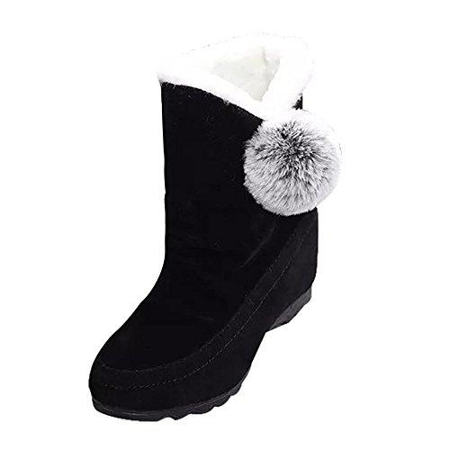 ブーツ Hosam レディース ショートブーツ ムートン ブーツ 裏起毛 モコモコ 柔らかくて暖かい...