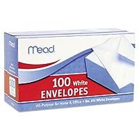 封筒63/ 4Inches Long white- 3xボックスof 100( 300)