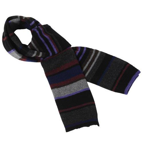 (ポール・スミス)Paul Smith 並行輸入 Striped Knit Scarf AJXA/522B/V139 B Black F