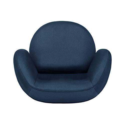 tegopo 座椅子 腰痛 コンパクト リクライニング 6段階調節 メッシュ 幅55cm 奥44cm 高41cm TZ001-M1 ネイビー色