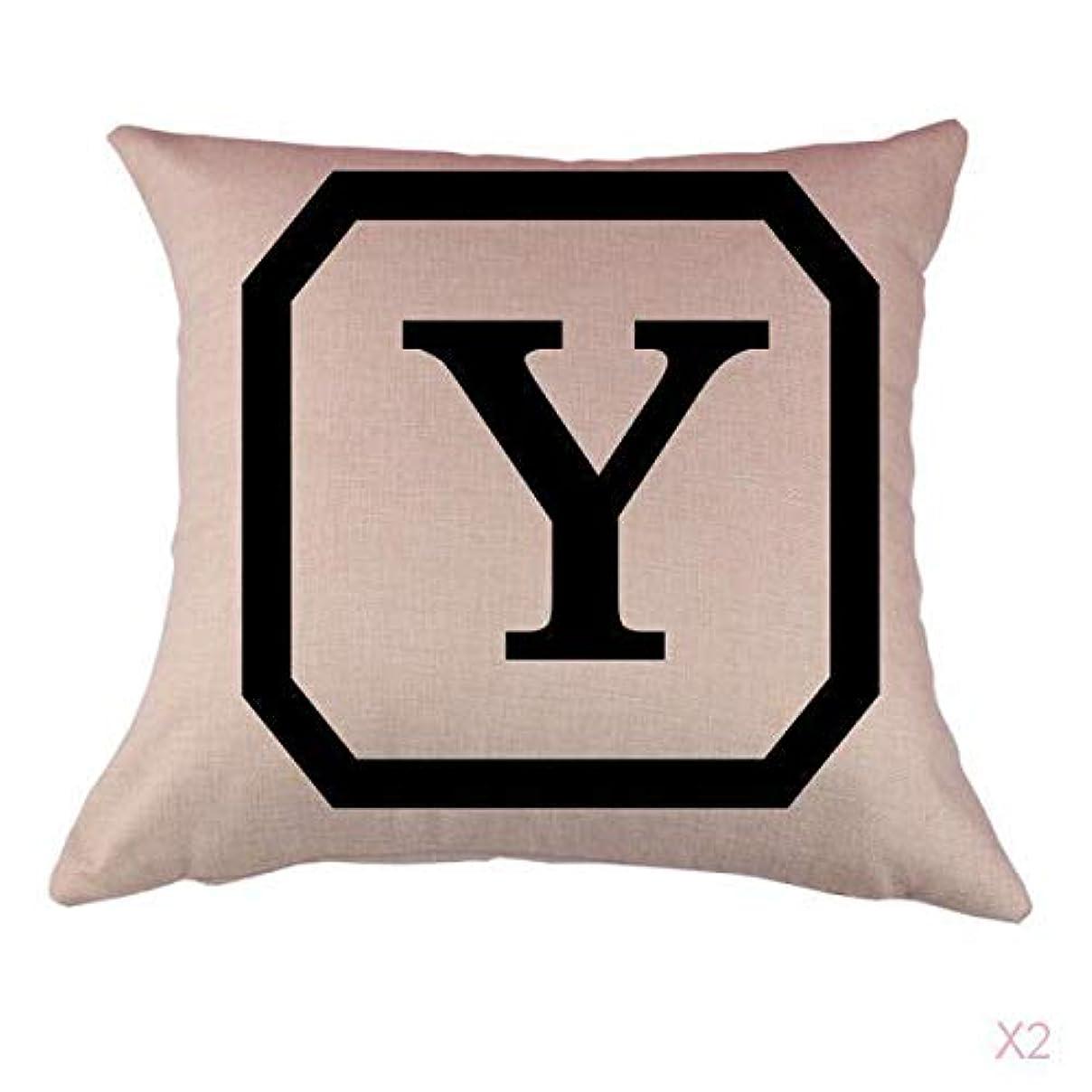 アルミニウム支出もっと少なくコットンリネンスロー枕カバークッションカバー家の装飾頭文字のy