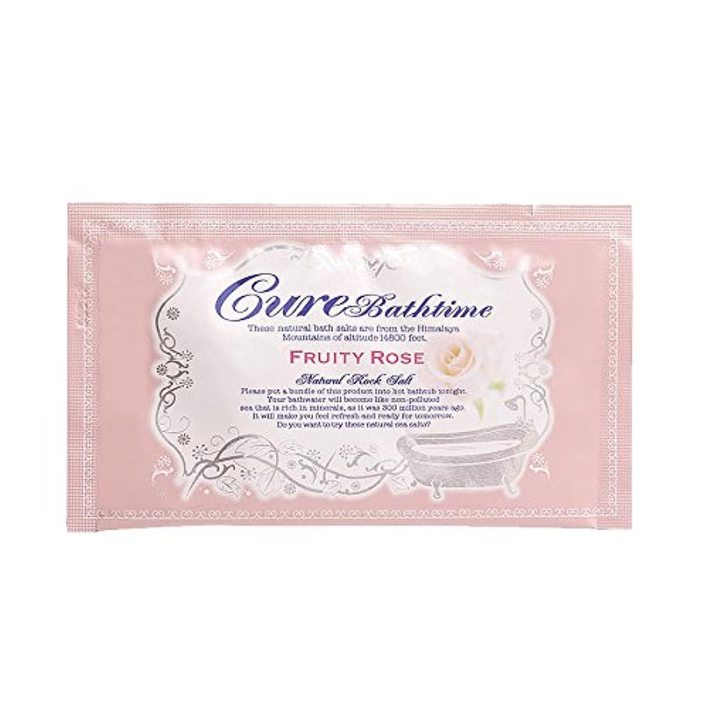 ジレンマ大西洋司令官Cureバスタイム 天然ヒマラヤ岩塩バスソルト フルーティローズの香り 16包セット