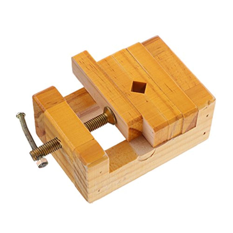 【ノーブランド品】 スタンプ固定ツール 彫刻 木製のホルダー 刻まれたホルダー
