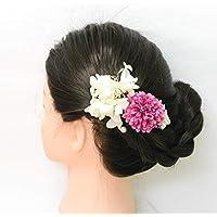 Lulu's ルルズ フラワーヘアアクセサリー ポンポンマム 髪飾り ヘッドドレス プリザーブドフラワー ウェディング ブライダル 花冠 ポンポンマム Lulu's-1255