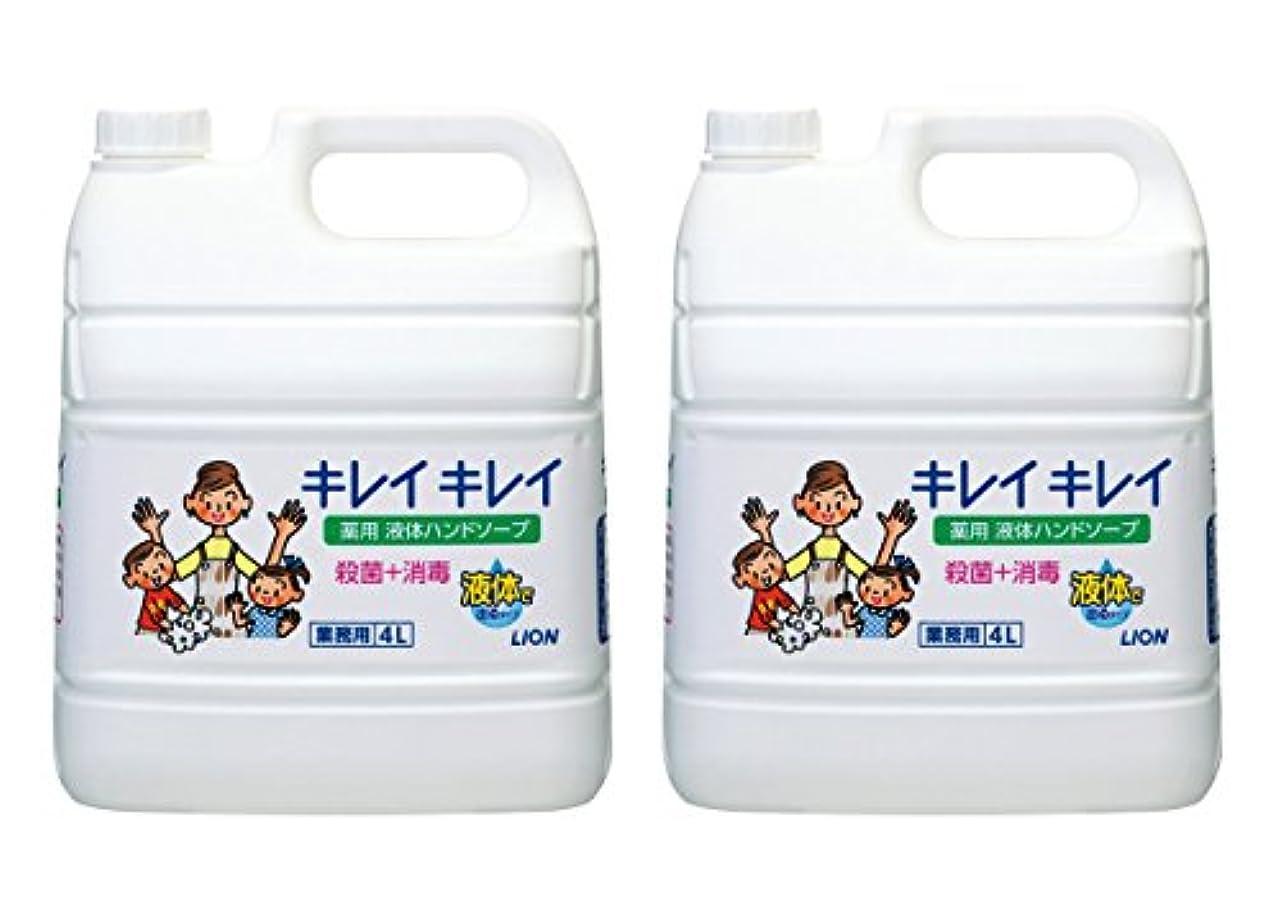 男松シーフード【大容量】キレイキレイ 薬用ハンドソープ 4L×2個