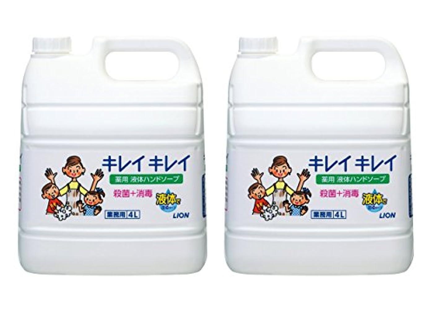 口頭幼児分注する【大容量】キレイキレイ 薬用ハンドソープ 4L×2個