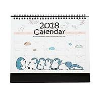 2018素敵なオフィスカレンダーデスクカレンダープランヘルパー、ペンギンスタイル