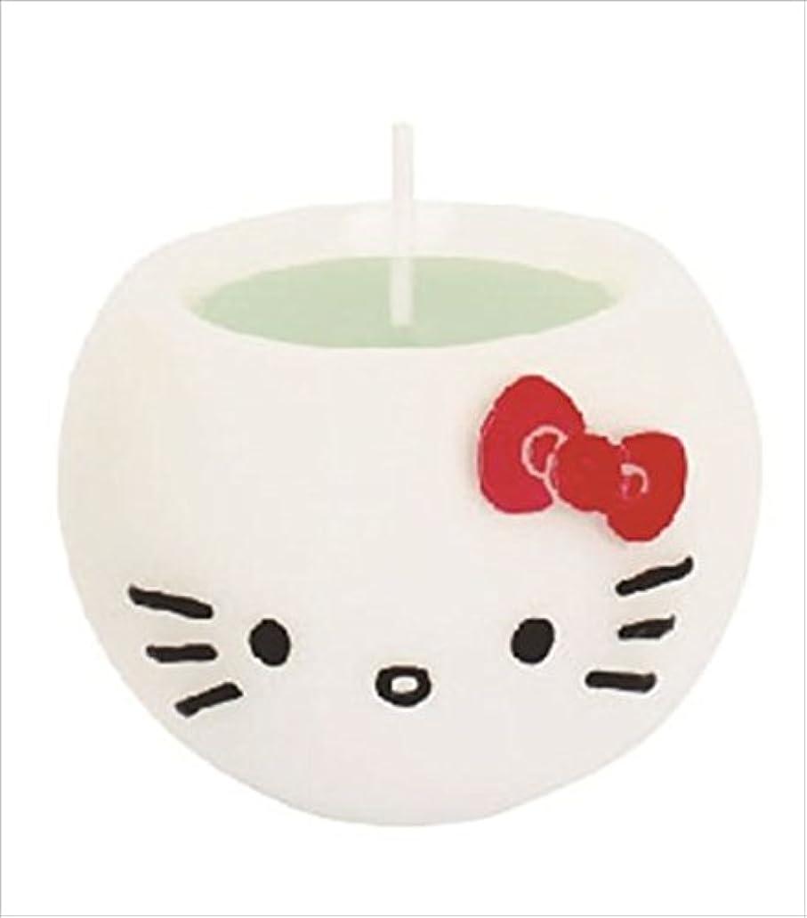 警報診断するパノラマkameyama candle(カメヤマキャンドル) ハローキティアロマキャンドル 「 アップル 」 キャンドル 58x58x45mm (A6980530)