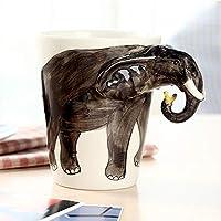 クリエイティブ 3Dハンドペイント 動物 セラミック 飲むマグ 350ml, (SKU : Hc5227c)
