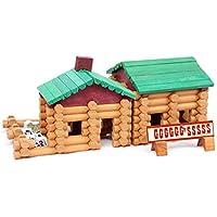 QXMEI 子供用 おもちゃ 子供用 ブロック ログ クリエイティブ ビルディング バラエティーブロック 教育玩具 製品サイズ: 12.2インチ 6.5インチ 11.4インチ