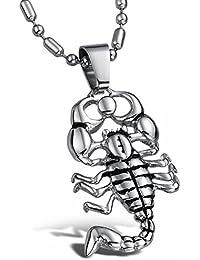 AmaranTeen – ペンダントネックレスファッションジュエリーチェーンクラシックScorpion