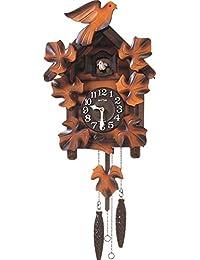 リズム時計 カッコー時計 カッコーメイソンR 本格的ふいご式 濃茶ボカシ木地仕上 4MJ234RH06