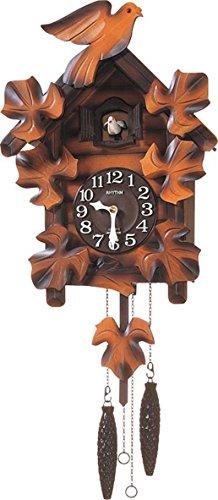 リズム時計 RHYTHM カッコー 掛け時計 カッコーメイソンR 本格的ふいご式 木 茶 (木地仕上) 4MJ234RH06