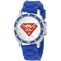 "Superman Kids' SUP9012""Superman"" Logo Watch with Rubber Band"