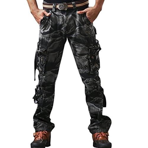 【ARINCO】 ミリタリー 迷彩 パンツ ACU カモフラージュ 戦闘服 サバゲー にも 沼 砂漠 湿地 大きい サイズ (迷彩・グレー,32)