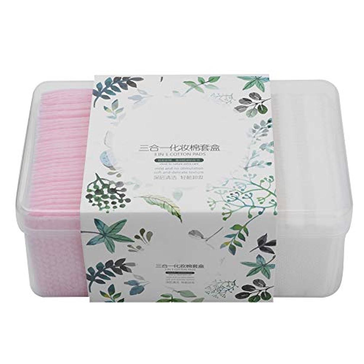 使い捨て化粧パッド メイク 280枚枚セット 化粧品リムーバークリーニングワイプ 綿パッド 化粧品 清潔になりますスキンケアを拭きます