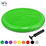 Fitwhiz Air Stability Wobble Cushion Free Pump, Extra Thick Core Balance Disc, Kids Wiggle Seat, Sensory Cushion Elementary School Chair (Office & Home & Classroom)