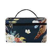 GXMAN メイクボックス コスメ収納 化粧品収納ケース 大容量 収納ボックス 化粧品入れ 化粧バッグ 旅行用 メイクブラシバッグ 化粧箱 持ち運び便利 プロ用 ボヘミアンスタイル