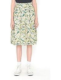 (グラニフ) graniph スカート ユーカリ (ハーベストテキスタイルデザイン) (グリーン)レディース (g25)